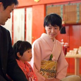 東京の神社に出張撮影したご祈祷中の写真