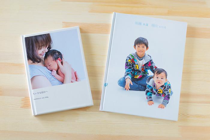 A4サイズとA5サイズの2冊のフォトブック