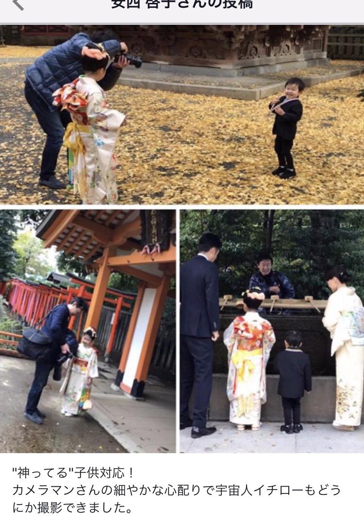 東京根津神社での七五三出張撮影の様子